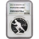 2012 W $1 Infantry Soldier Commemorative Silver Dollar NGC PF69 UC