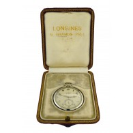 1932 Longines 18k White Gold Sapphire Presentation Pocket Watch President Peru