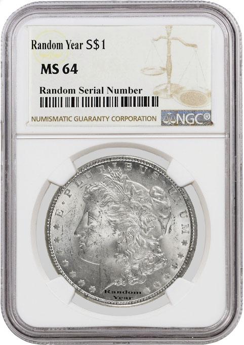 1878 to 1904 $1 Morgan Silver Dollar NGC MS65 Random Year