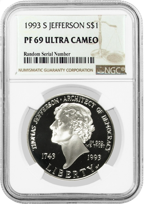 2004-P US Thomas Alva Edison Commem Proof Silver Dollar NGC PF69 UCAM