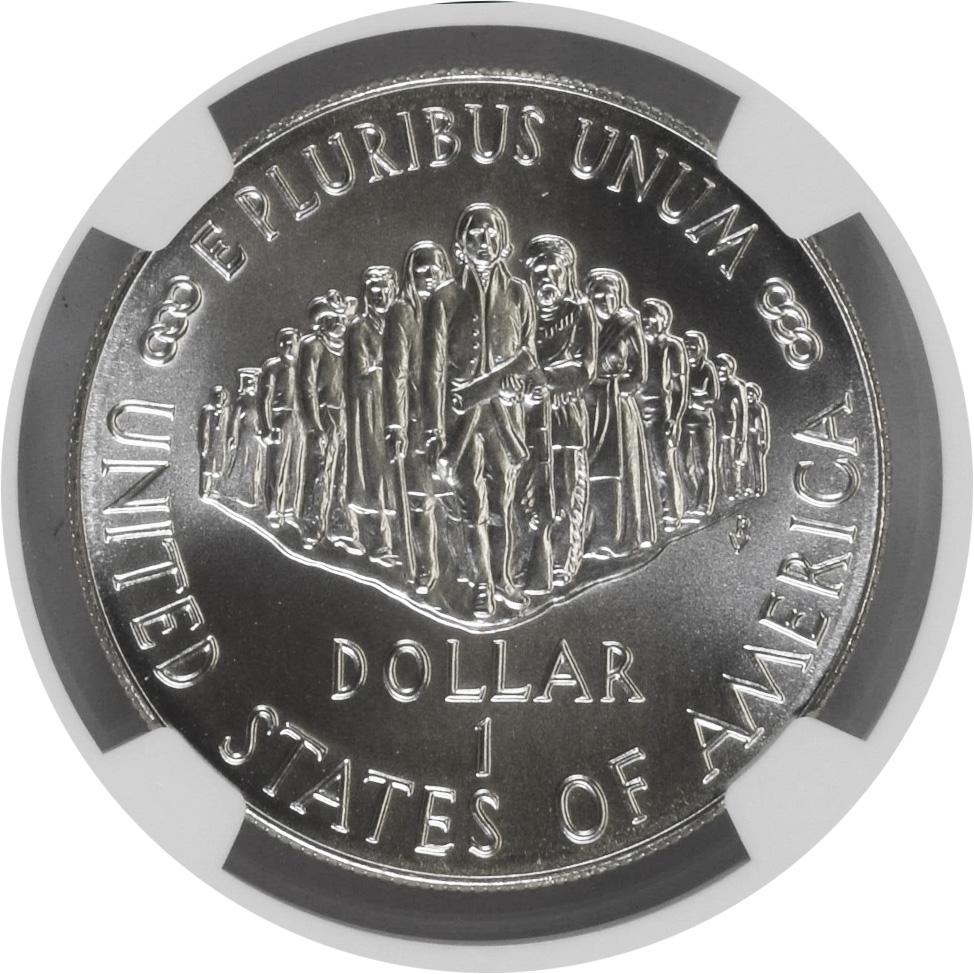 1987 P $1 U.S Constitution Bicentennial Commemorative Silver Dollar NGC MS70