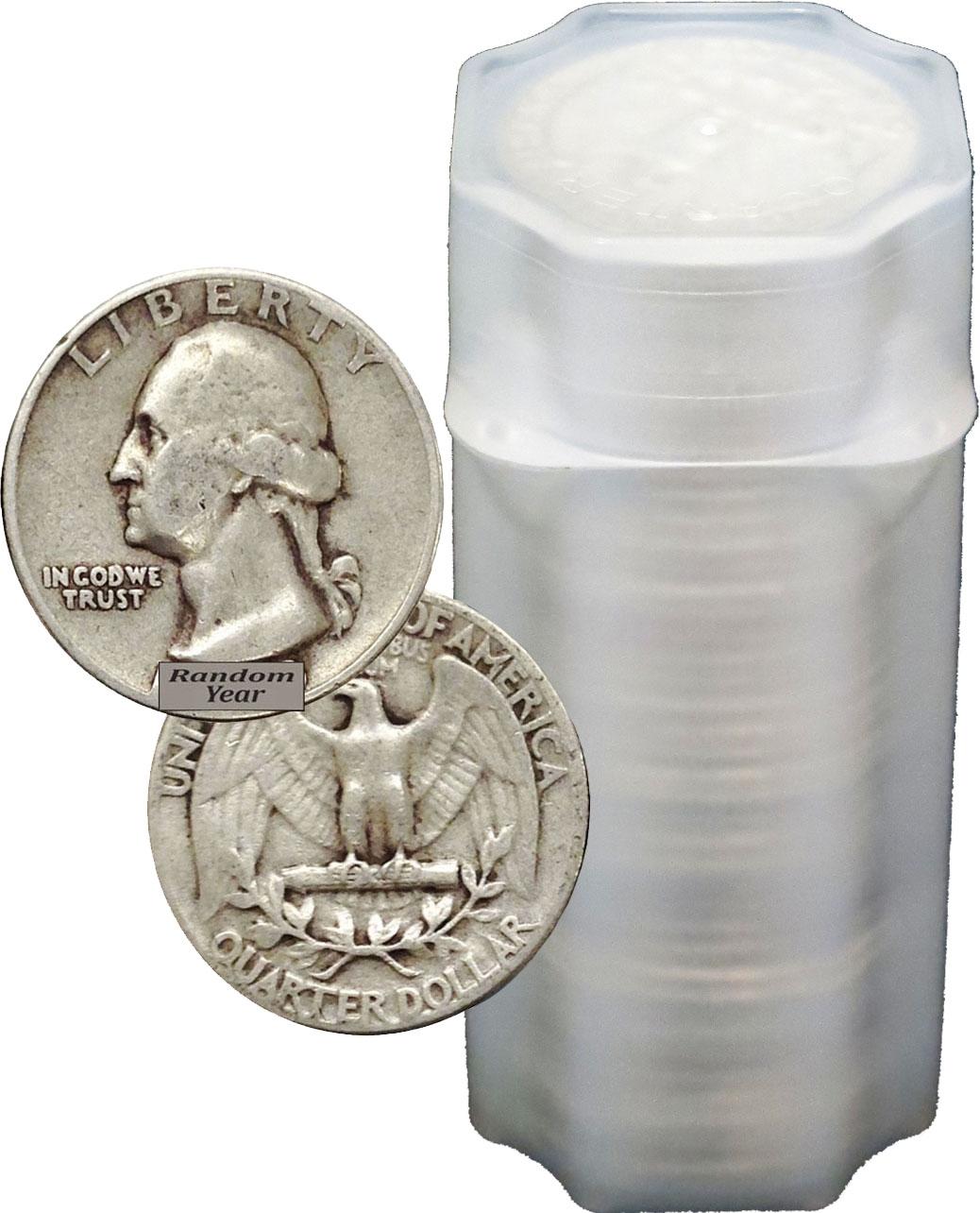 US 90/% Silver Circulated Coin Washington Quarter Pre 1965 single coin